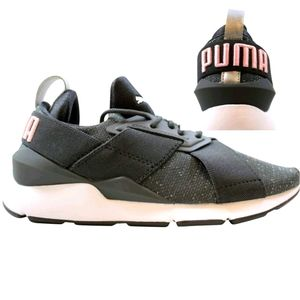 PUMA Grey/Pink Metallic Specked Athletic shoes